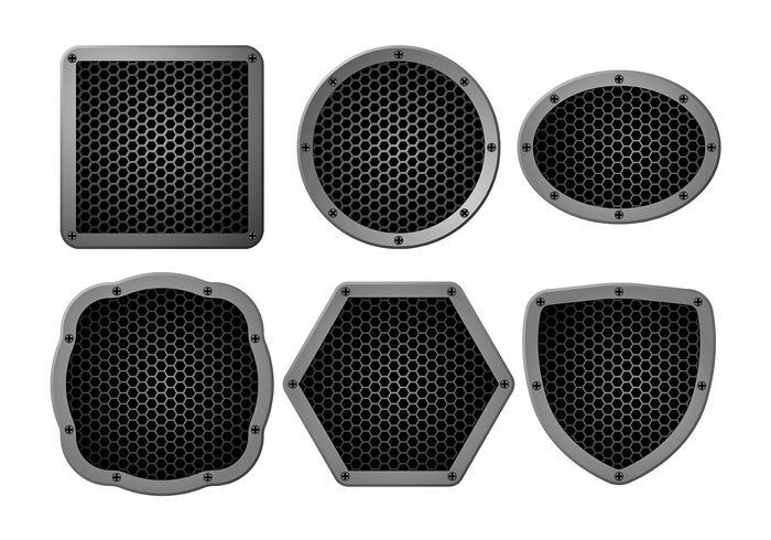 Luidspreker grill vector