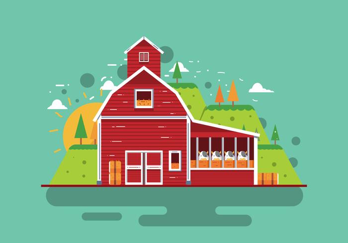 Vector Red Barn gratuito