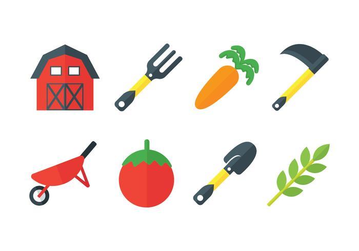 Frische Bauernhof Vektor-Icons