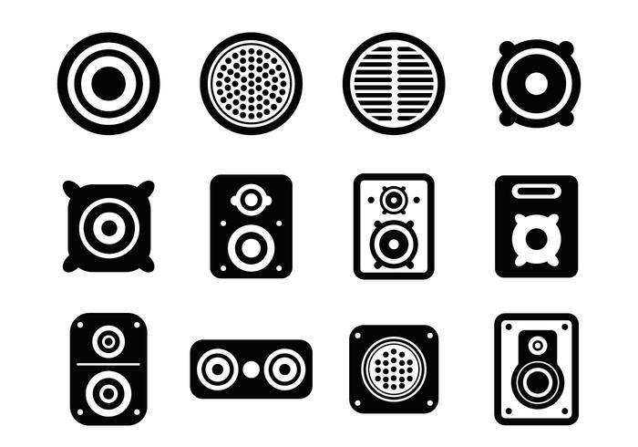 Freier Lautsprecher Icons Vektor