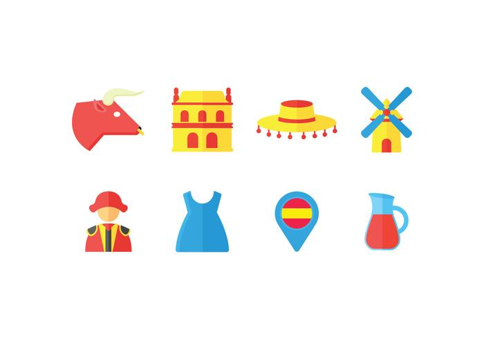 Spanien Vektor-Icons