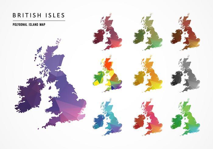 Islas británicas mapa vectorial