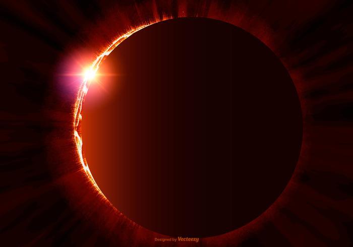 Solar Eclipse Illustration