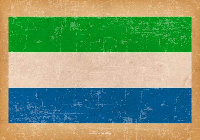 Grungflagge von Sierra Leone
