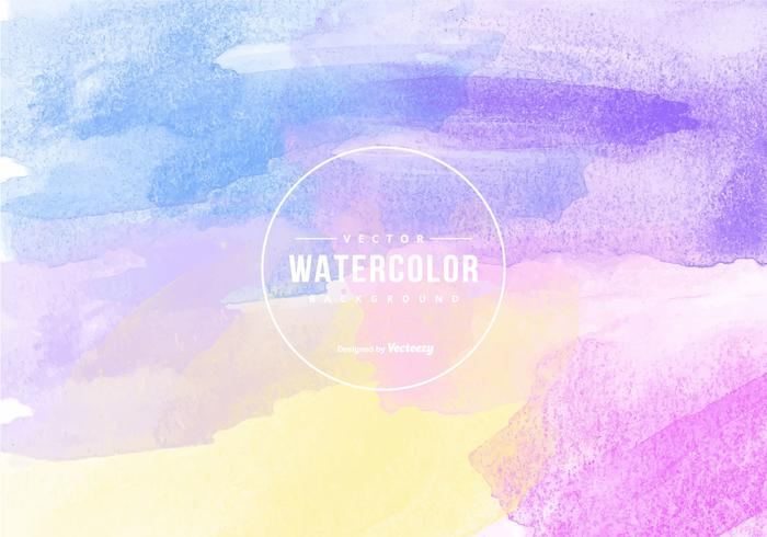 Multicolor Vector Watercolor Background