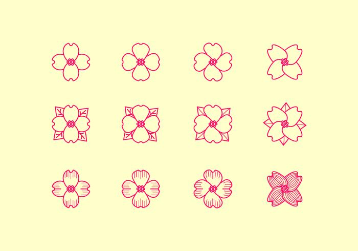 Dogwood Outline Icon Free Vector