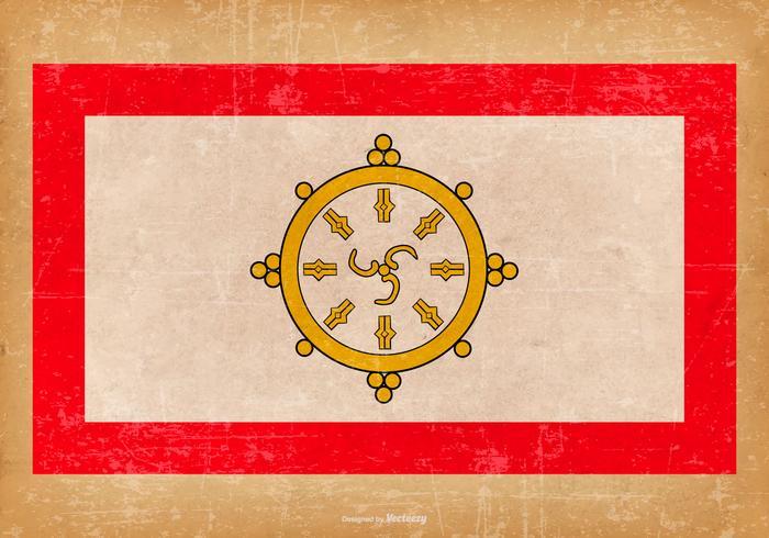 Grunge Flagge von Sikkim