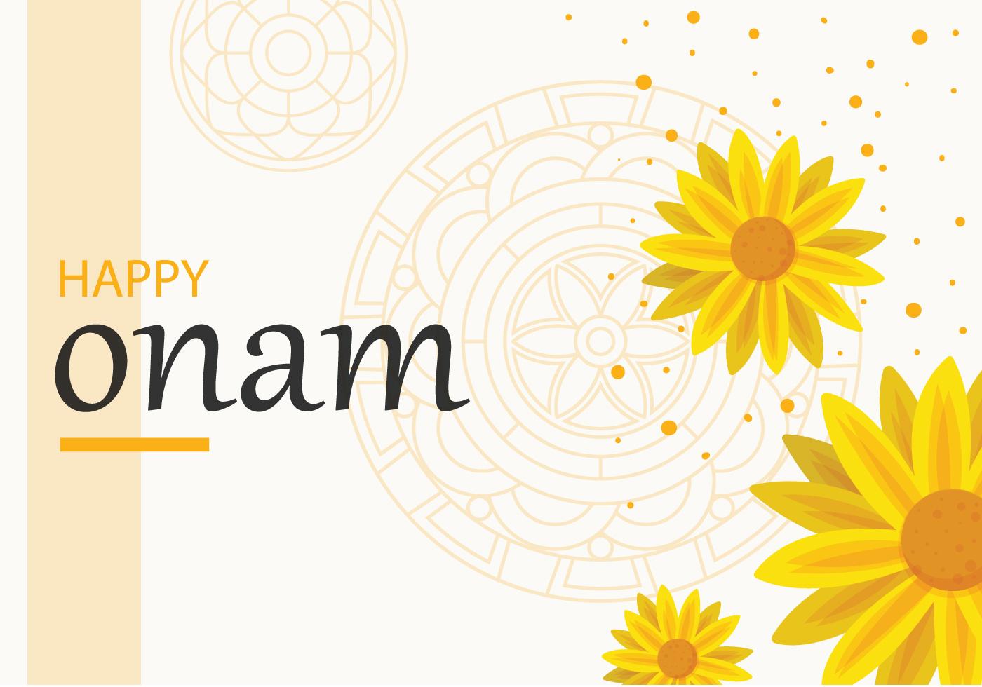Happy Onam Background Download Free Vector Art Stock