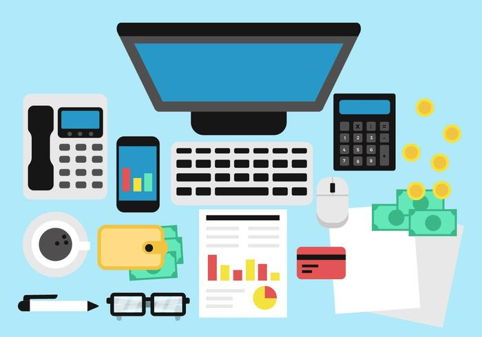 Free Accounting and Bookkeeping Vector