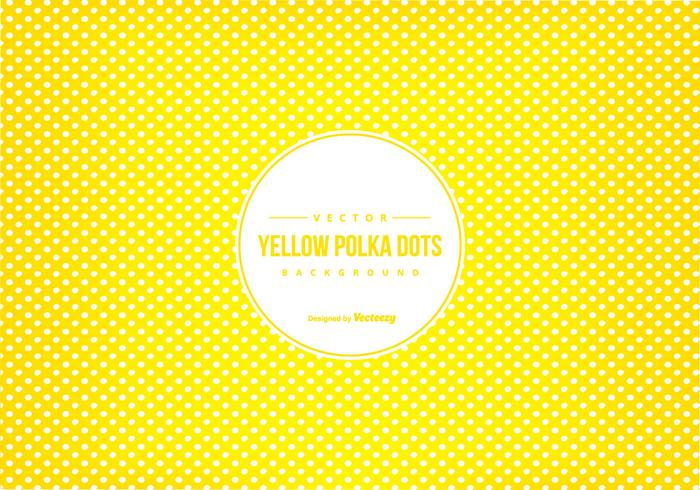 Yellow Polka Dot Scrapbook Background vector