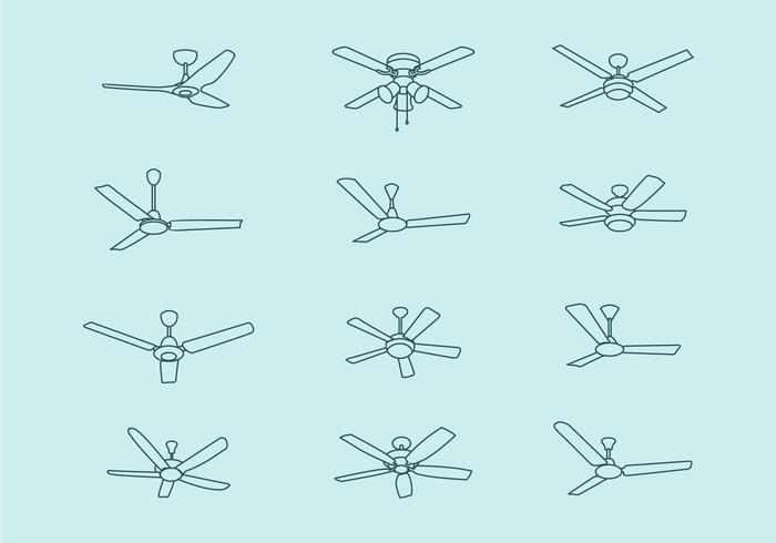 Plafondventilator vectorpakket