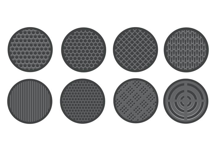 Speaker Grill Icons Vector