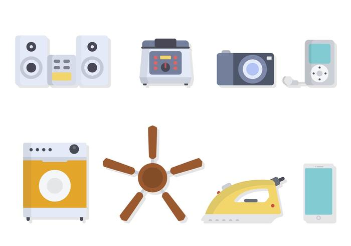 Flat Home Appliance Vectors
