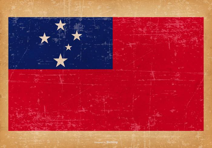 Grunge Bandera de Samoa