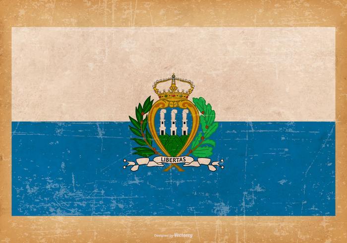 Grunge Flag of San Marino