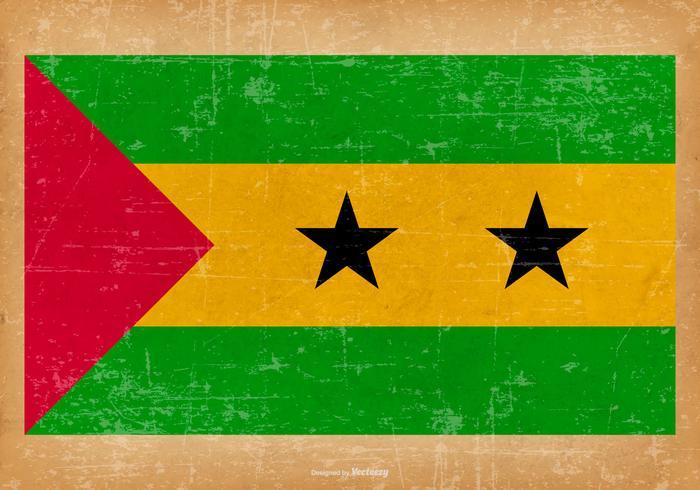 Drapeau grunge de Sao Tomé-et-Principe