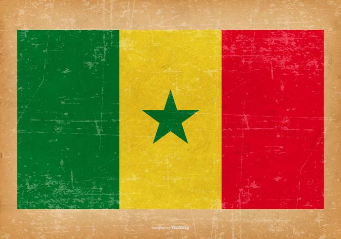 Bandeira do grunge do Senegal