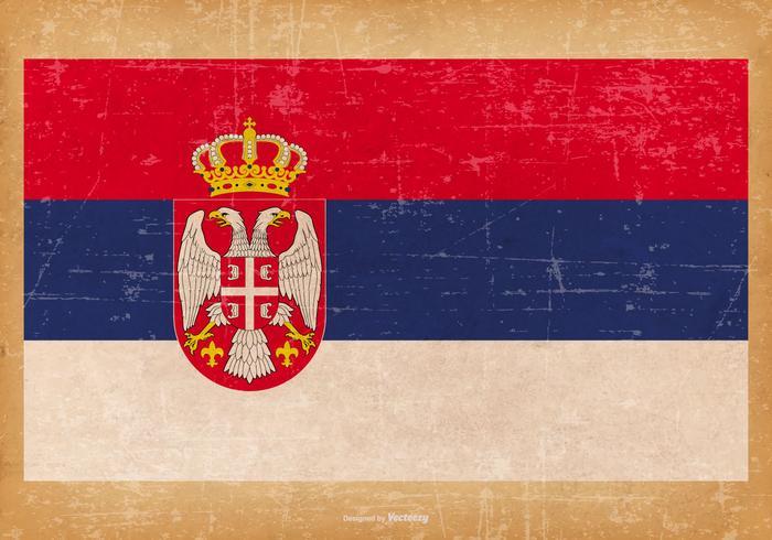 Grunge Bandera de Serbia
