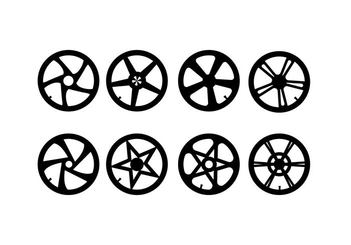 Motocicleta Hubcap conjunto de vectores