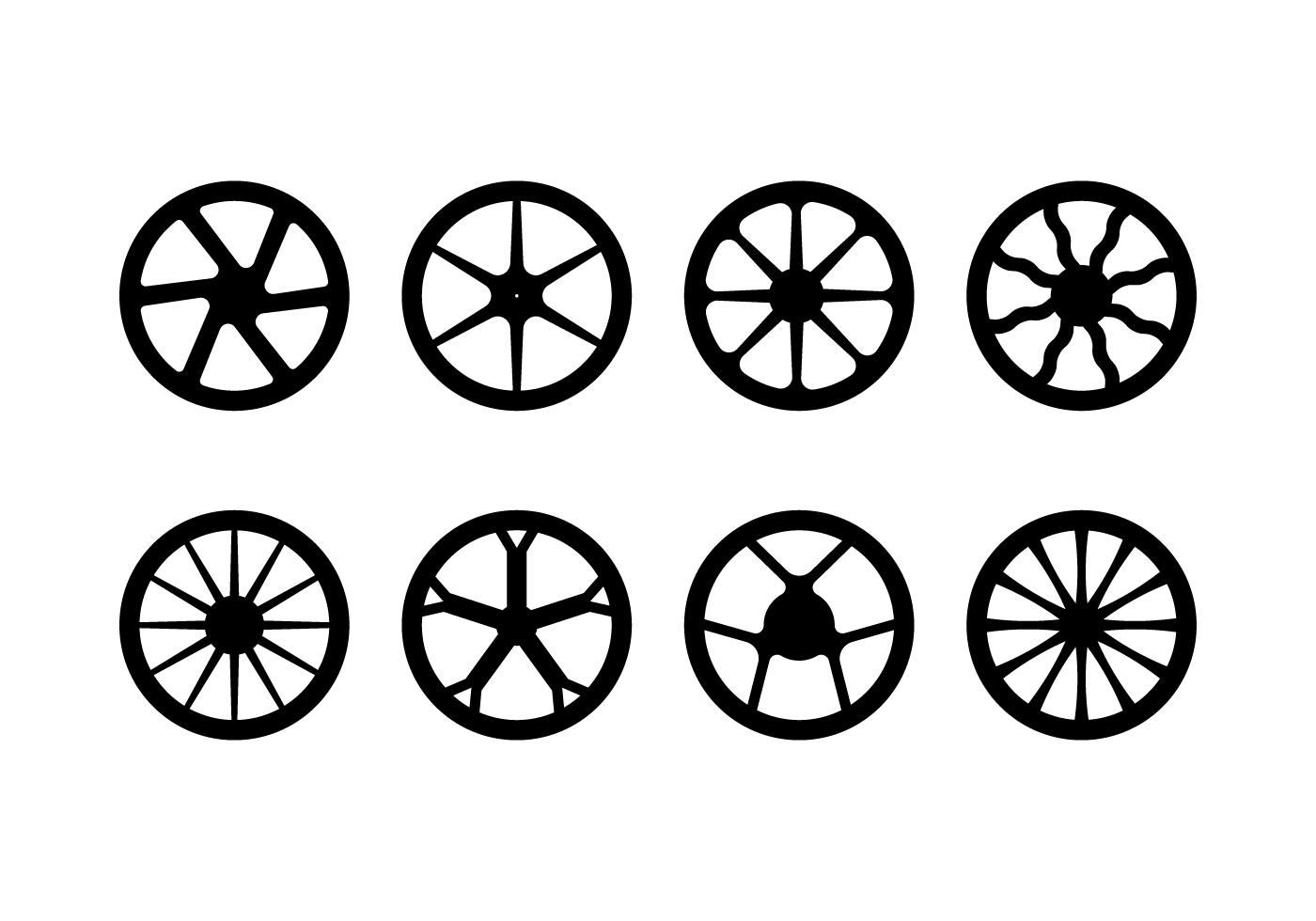 Motorcycle Hubcap Vector Pack - Download Free Vector Art ...