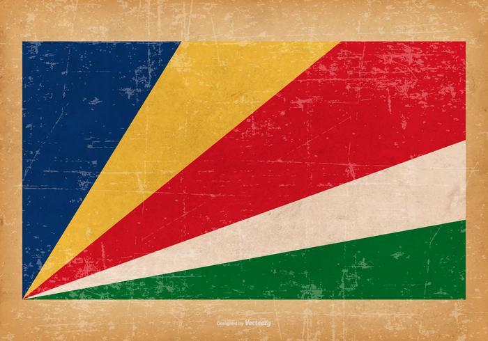 Bandiera del grunge delle seychelles