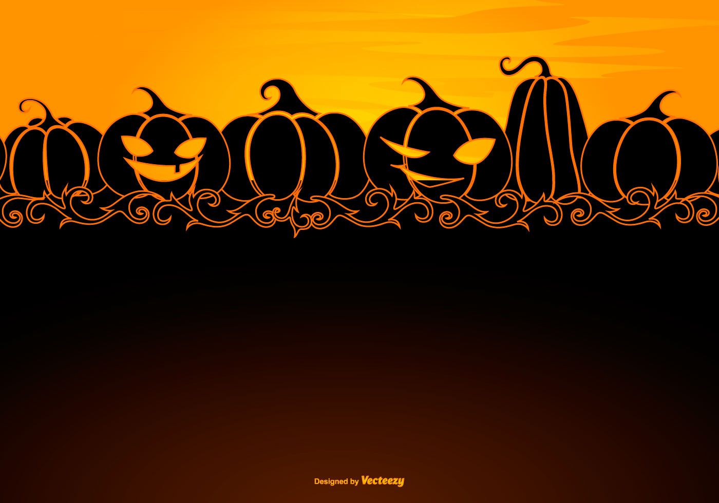 Halloween Background Template with Space for Text ...