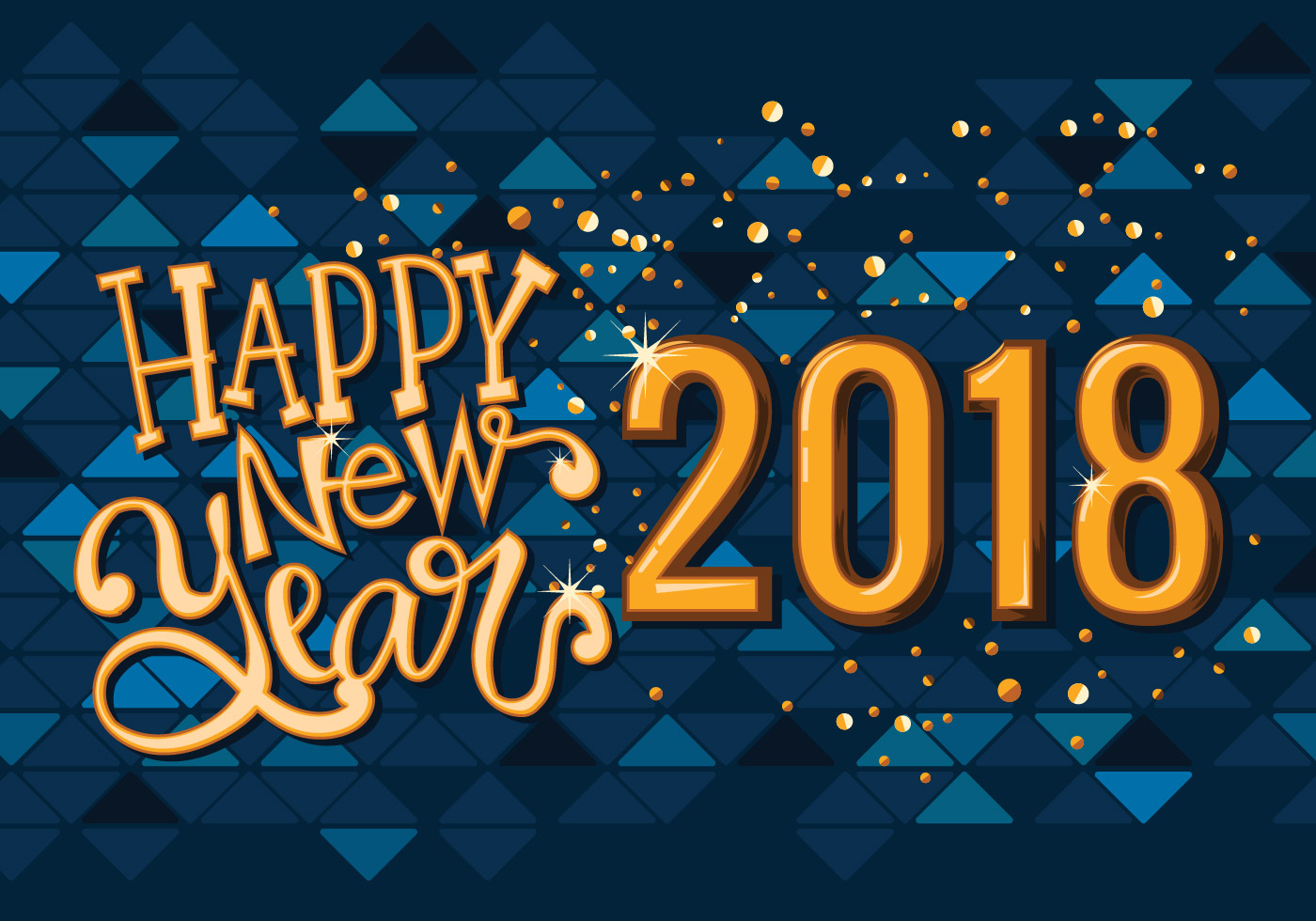 happy new 2018 year greeting card vector free