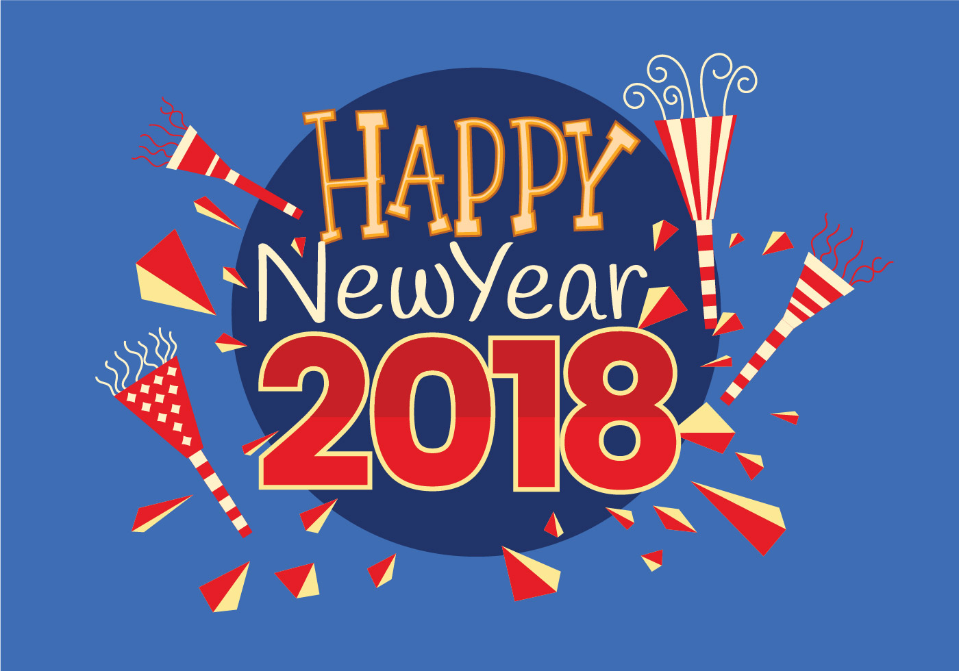 happy new 2018 year greeting card vector download free vector art stock graphics images