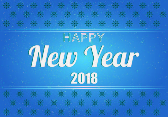 background of happy new year 2018 vector