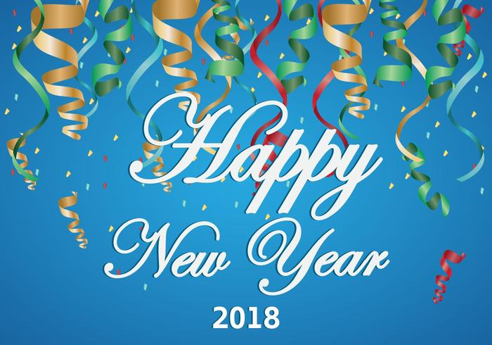 Background Of Happy New Year 2018