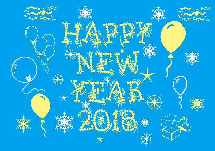 Happy New Year 2018 Vector Pack