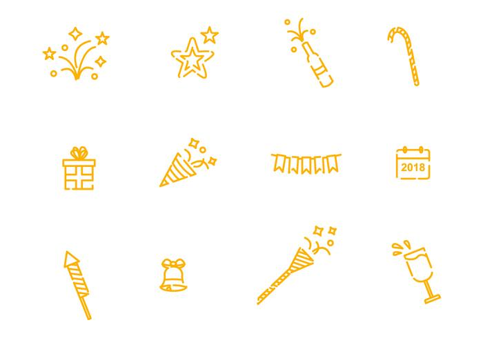 New Year Celebration Icons vector