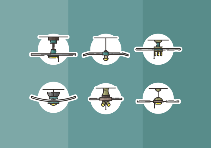 Deckenventilator Free Vector Pack