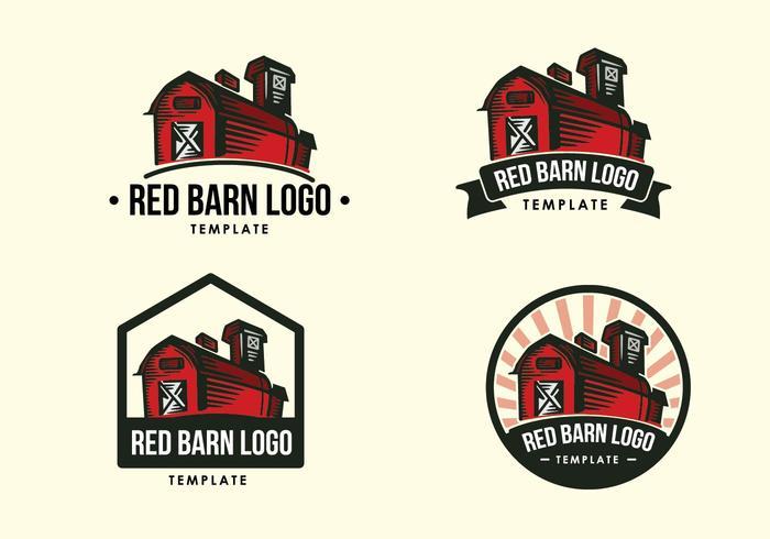 Red Barn Vintage Logo vector