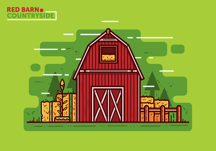 Vector Red Barn gratuito