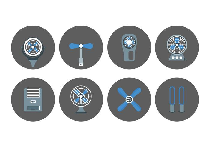 Fan and ventilator set icons