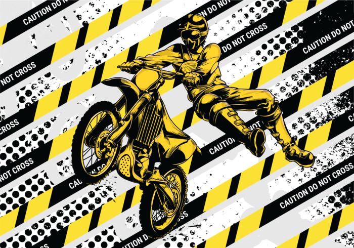 Ilustração vetorial do motorcross