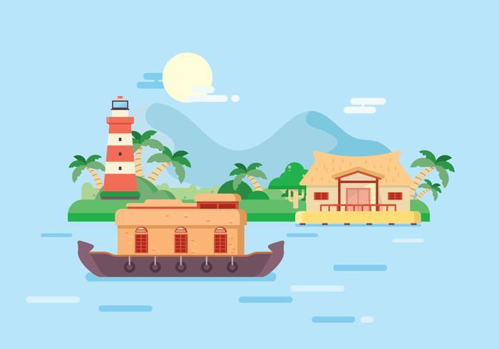 Reizen naar Kerala Illustratie