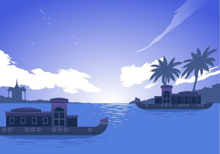 Kerala barco vector libre
