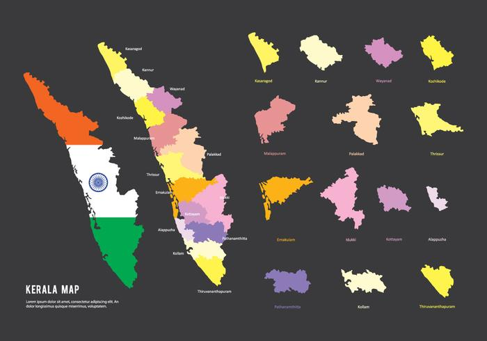 Kerala Map Vector