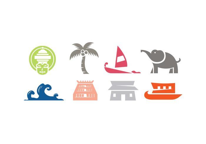Kerala vector iconos