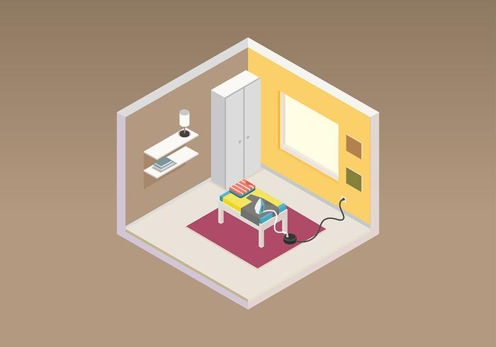 Ironing Room Isometric Free Vector