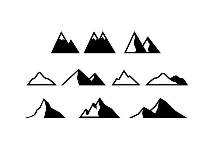 Kostenlose Berge Icon Vektor