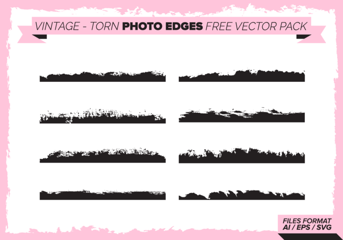 Vintage Torn Photo Edges Free Vector Pack