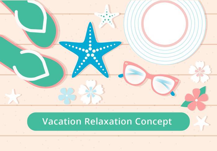 Free Flat Design Vector Summer Relax