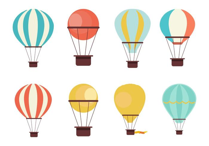 Free Hot Air Balloon Collection Vector