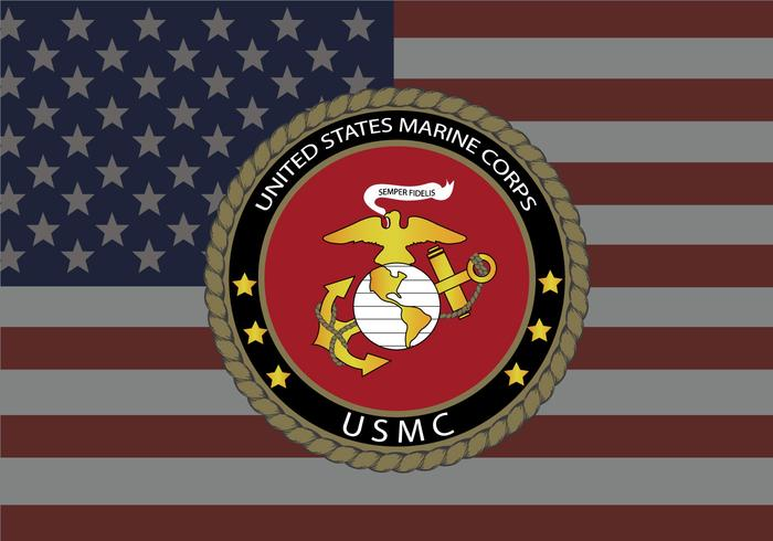 USMC United States Flag Background Vector