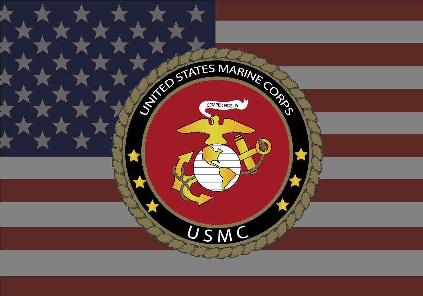 USMC Estados Unidos Bandera vector de fondo - Descargue Gráficos y ...