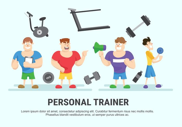 Personal Trainer Vector Illustration