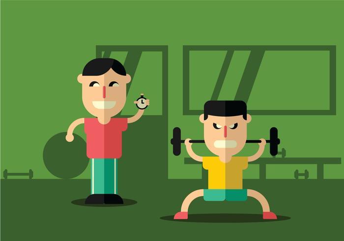 Illustration von Personal Trainer